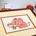"Cross stitch kit ""A gift for elephant"""