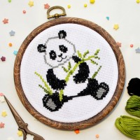 """Panda"" - Cross stitch kit"