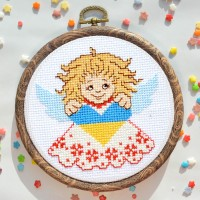 """Folk angel"" - Cross stitch kit"