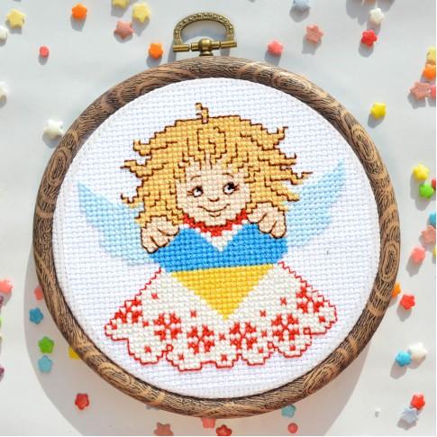 "Cross stitch kit ""Folk angel"""