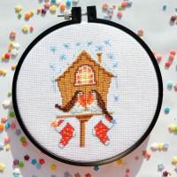 """Christmas bullfinches"" - Cross stitch kit"