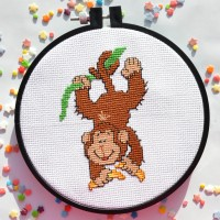"""Monkey"" - Cross stitch kit"