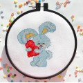 "Cross stitch kit ""Bunny with love"""