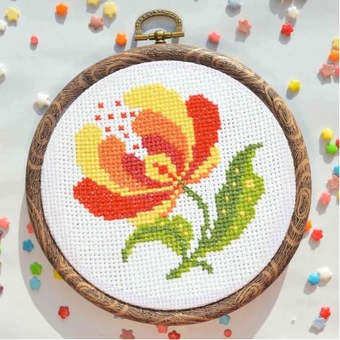 "Cross stitch kit ""Floret"""