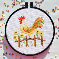 """Cockerel"" - Cross stitch kit"