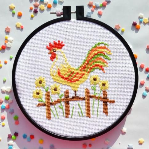 "Cross stitch kit ""Cockerel"""