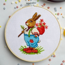 """Mr. Bunny"" - Cross stitch kit"