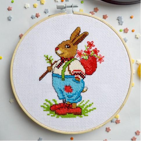 "Cross stitch kit ""Mr. Bunny"""