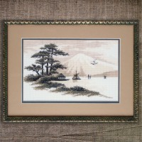 "Cross stitch kit ""Mount Fuji"""