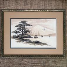 "Cross stitch kit ""Mount Fuji"""