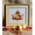 "Beaded cross stitch kit ""Autumn silhouette"""