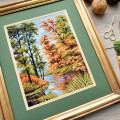 "Cross stitch kit ""Autumn"""