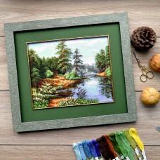 """""""Forest landscape"""" - Cross stitch kit"""