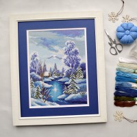 """Winter"" - Cross stitch kit"