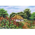 "Cross stitch kit ""House in the village"""