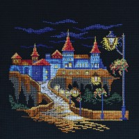 """Fortress in the night"" - Cross stitch kit"