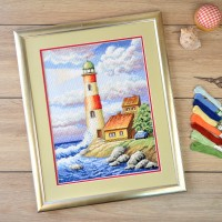 """""""Lighthouse"""" - Cross stitch kit"""
