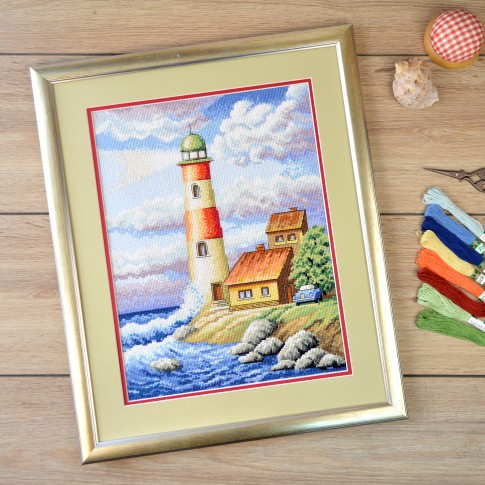 "Cross stitch kit ""Lighthouse"""