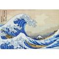 """Cross stitch kit """"The Great Wave off Kanagawa"""""""