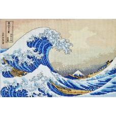 """""""The Great Wave off Kanagawa"""" - Cross stitch kit"""