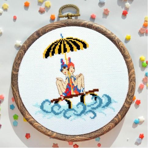 "Cross stitch kit ""Sailors"""