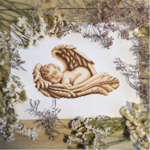 "Cross stitch kit ""Sleeping Angel"""