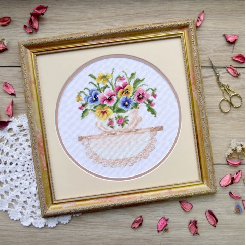 "Cross stitch kit ""Gentle bouquet"""