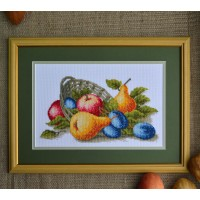 """Fruit basket"" - Cross stitch kit"