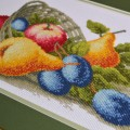 "Cross stitch kit ""Fruit basket"""