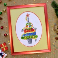 """Christmas tree"" - Cross stitch kit"