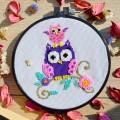 """Patterned needlework fabric """"Owl"""""""